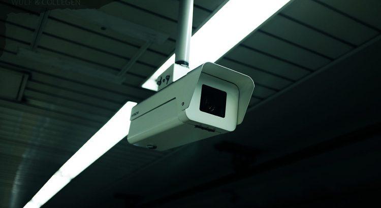 Nahaufnahme einer Überwachungskamera